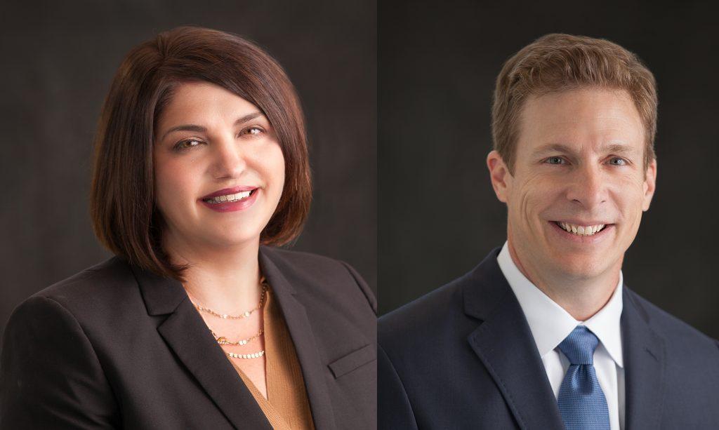 Megan Belcher and Jeff Schreiner
