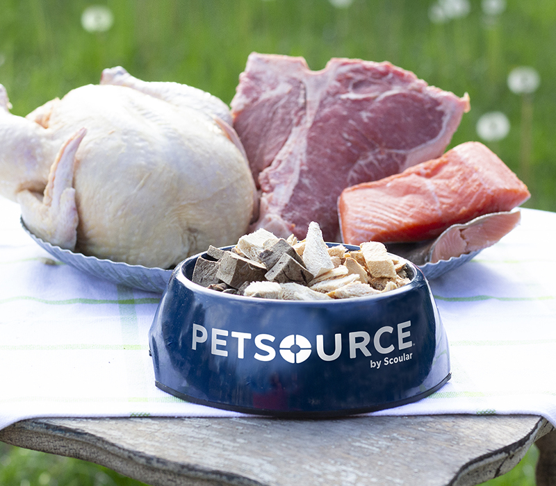 freeze-dried meats from Petsource by Scoular