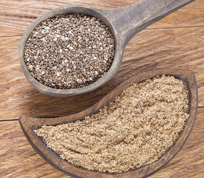 Chia seeds and Chia flour