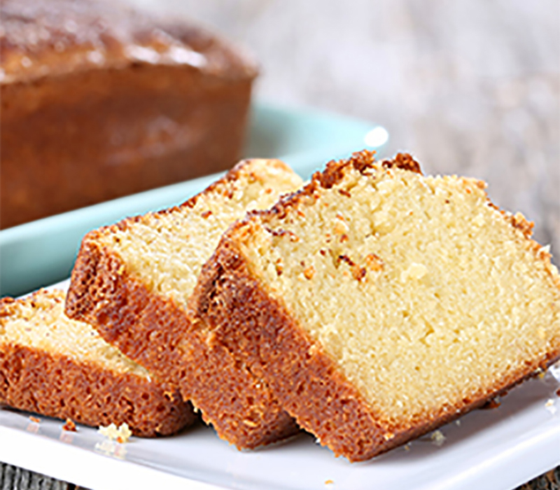 Pound cake that uses